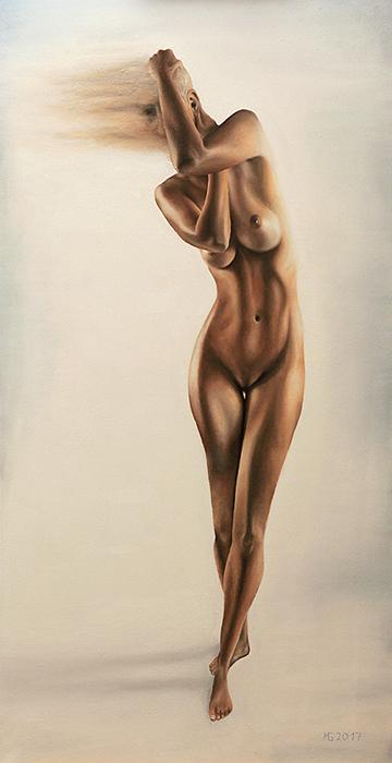 Geisler Gemälde Claudia-2017---100x50--Oel-auf-Leinwand