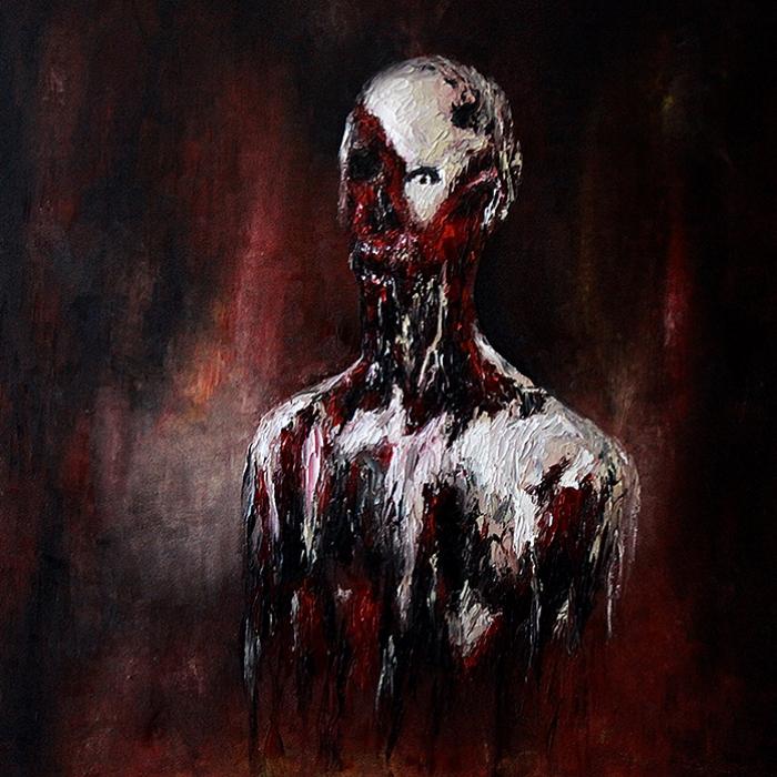 Geisler Gemälde Fear1-2016---70x70-Oel-auf-Leinwand