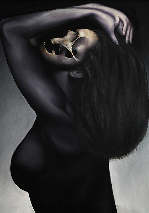 Geisler Gemälde Necro-2013---80x60-Oel-auf-Leinwand