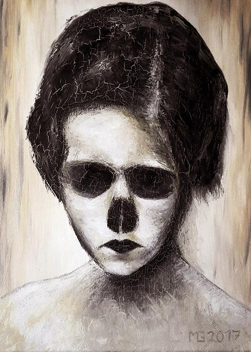 Geisler Gemälde Progerie-2017---70x50-Oel-auf-Leinwand